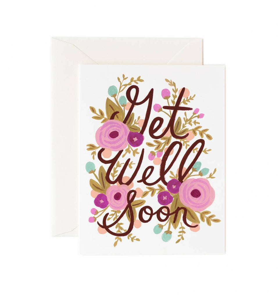 Floral Get Well Soon Card by Rifle Paper Co