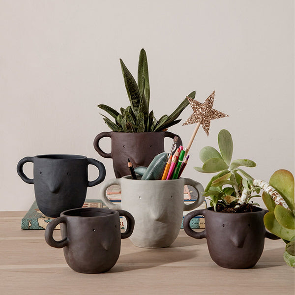 'Mus' Plant Pot, Small Sand