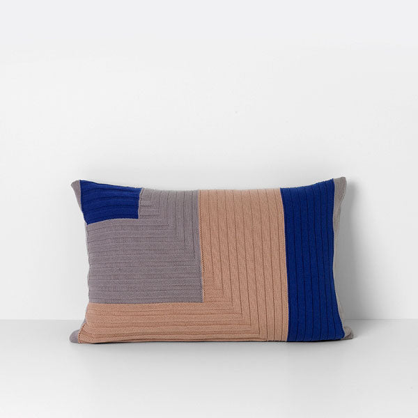 Angle Knit Cushion - Dusty Rose
