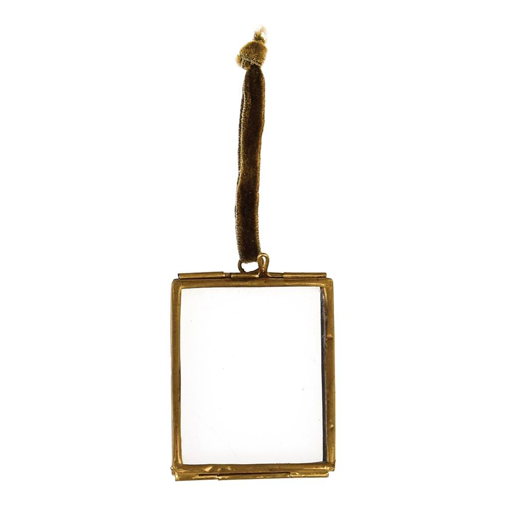 Small Hanging Brass or Silver Frame or Decoration