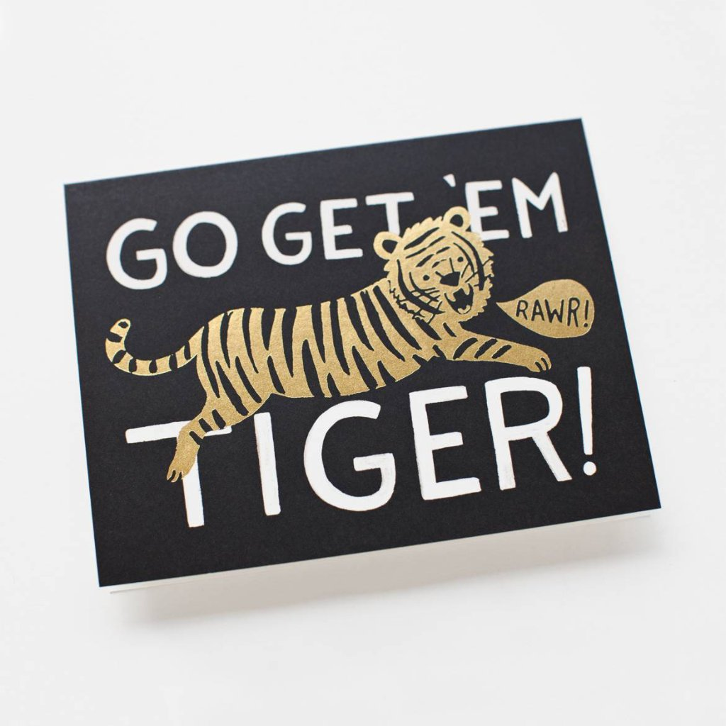Go Get Um' Tiger - Greetings Card by Rifle Paper Co