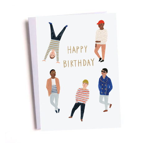 Birthday Dudes Greetings Card