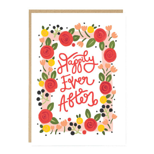 ** Happily Ever After Roses Wedding Card