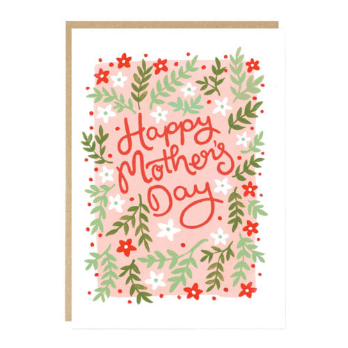 ** Happy Mothers Day Floral Card