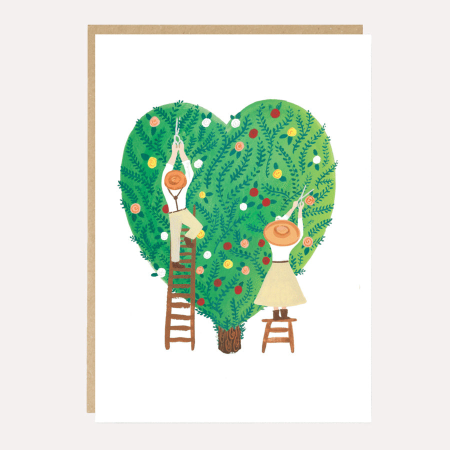 Heart Hedge Wedding or Anniversary Card