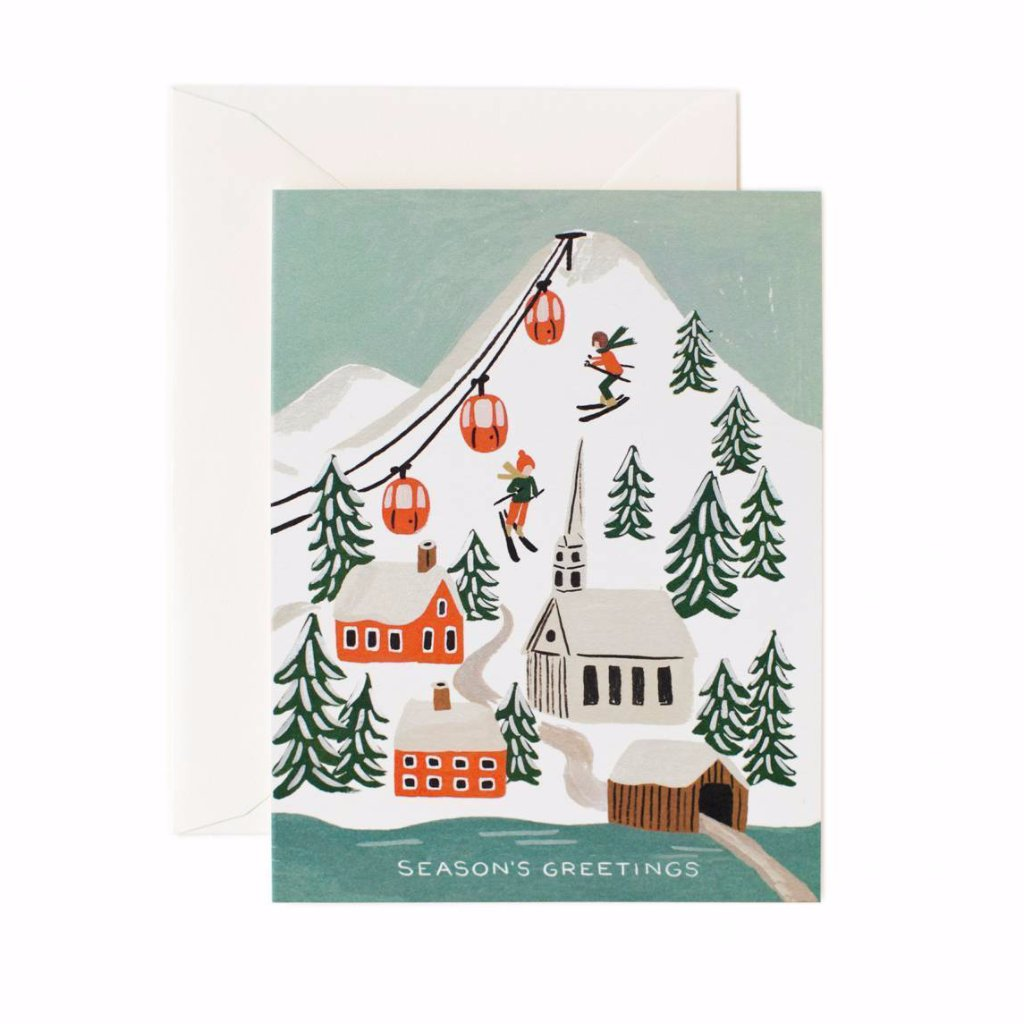 Holiday Snow Scene - Greetings Card by Rifle Paper Co