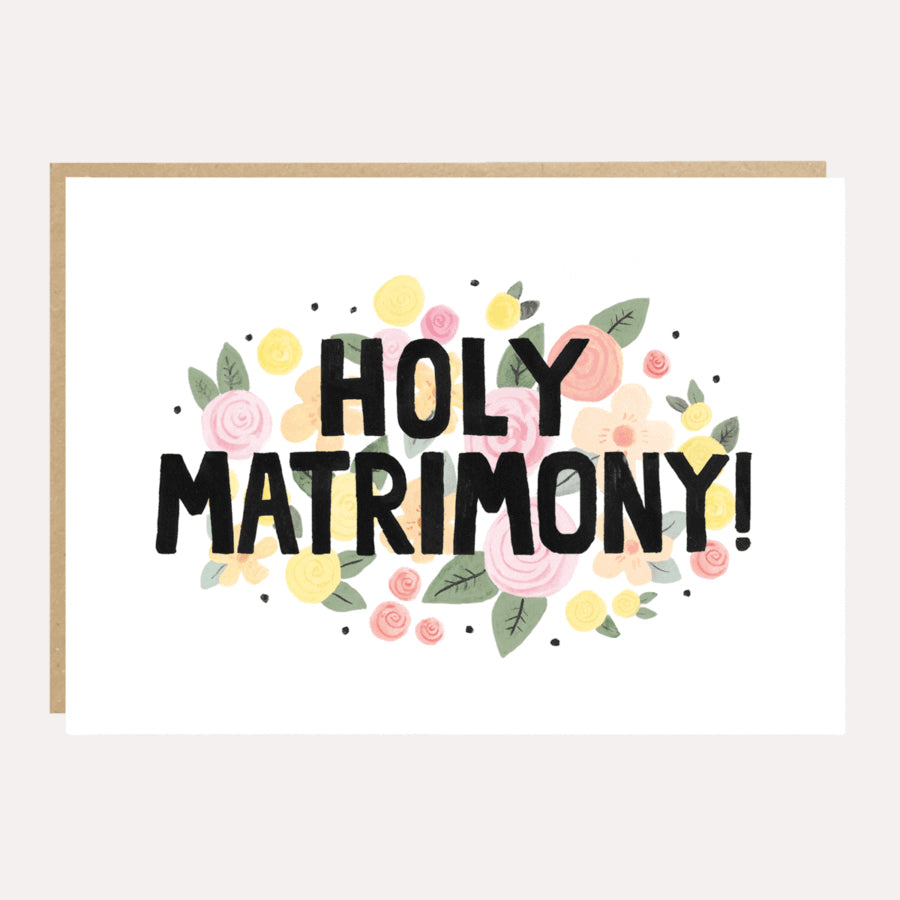 ** Holy Matrimony! Wedding Card