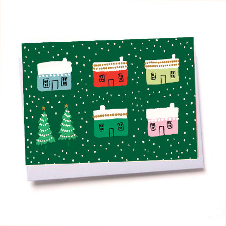 Little Houses - Pack of 8 Christmas Cards