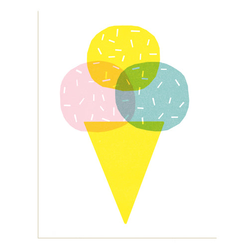 Ice Cream Risograph Print