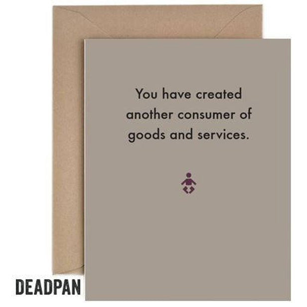 Deadpan Consumer Baby Card