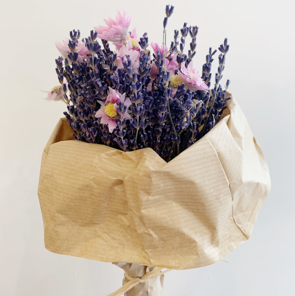 Dried Flower Bouquet - Pink
