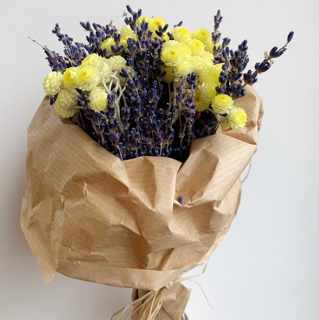 Dried Flower Bouquet - Yellow