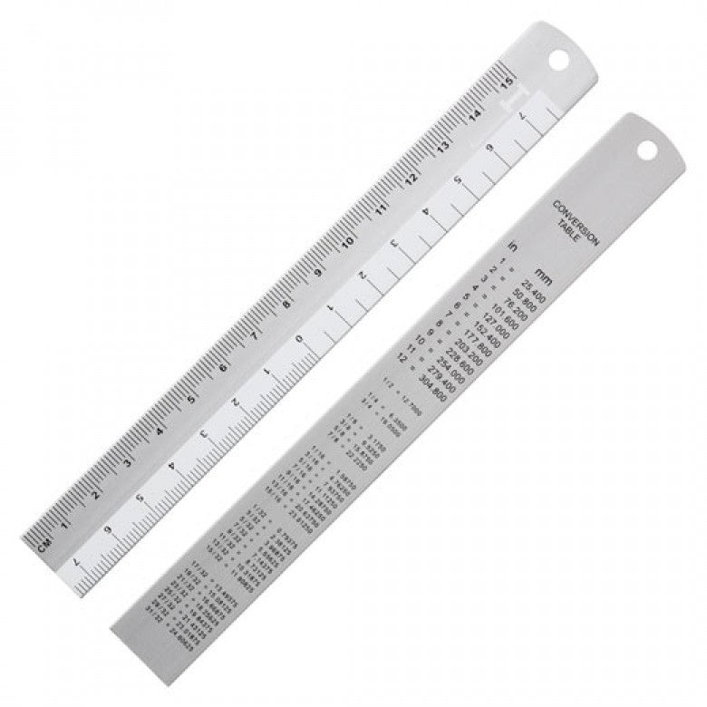 Hightide Aluminium Ruler 15CM
