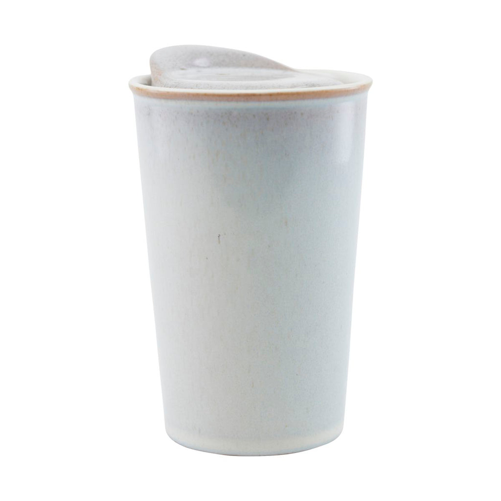 Stoneware 'To Go' Travel Mug - Off White