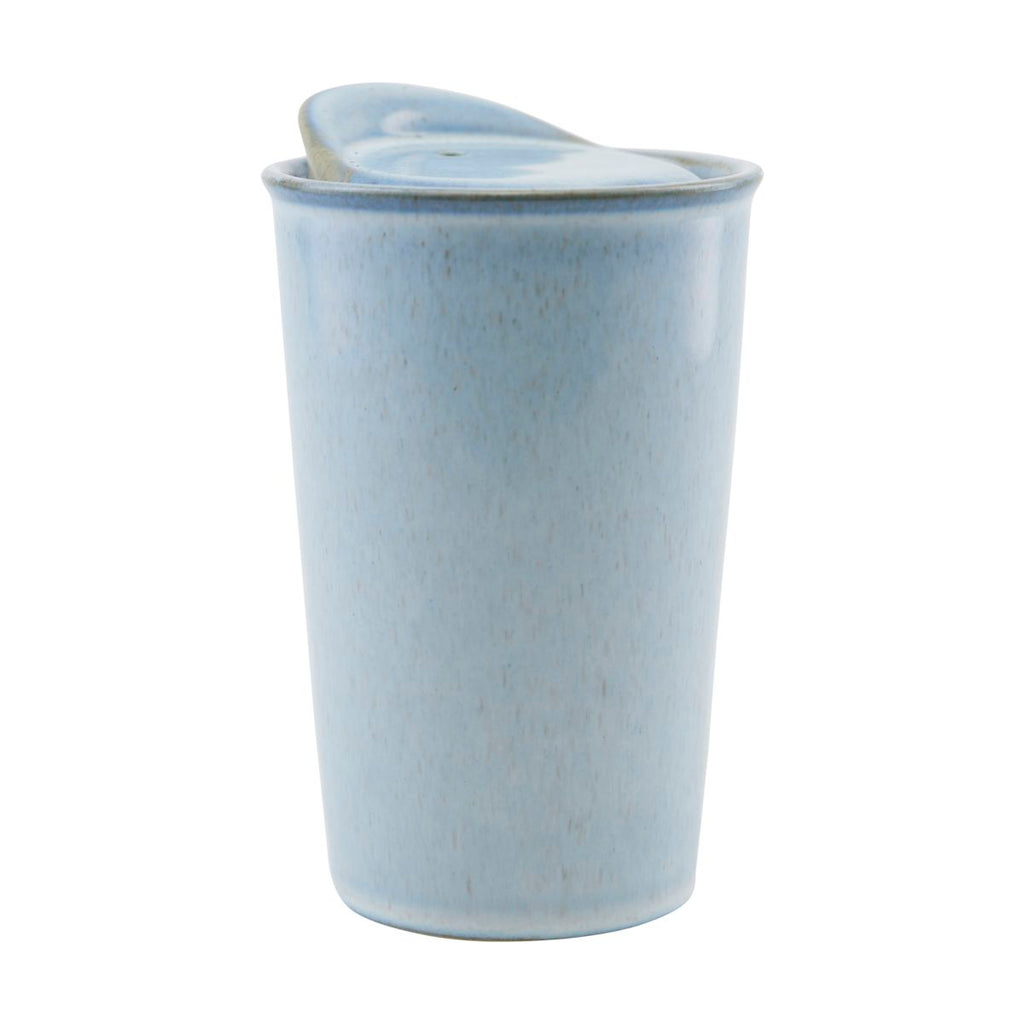 Stoneware 'To Go' Travel Mug - Blue