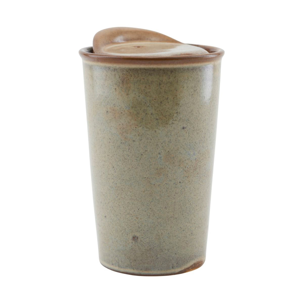 Stoneware 'To Go' Travel Mug - Brown