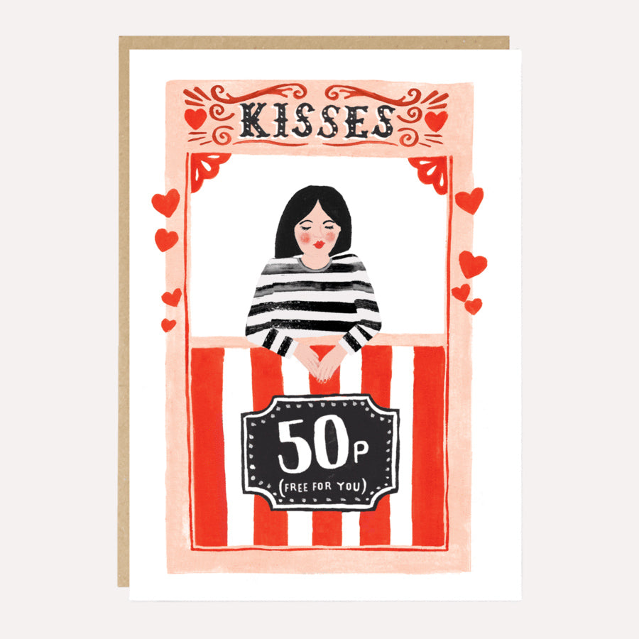 Kissing Booth Greetings Card