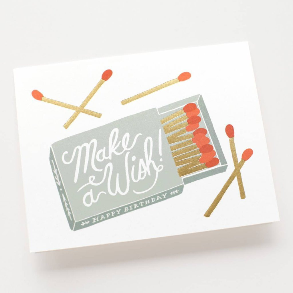 Make a Wish - Greetings Card by Rifle Paper Co