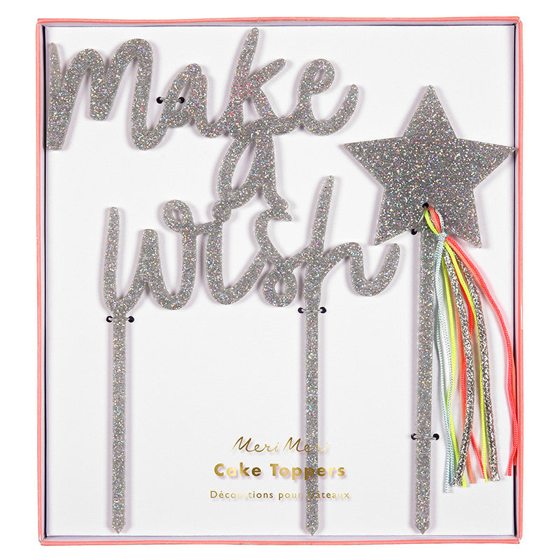 Make A Wish Acrylic Cake Toppers