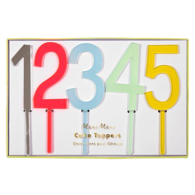 Colourful Birthday Number Cake Toppers