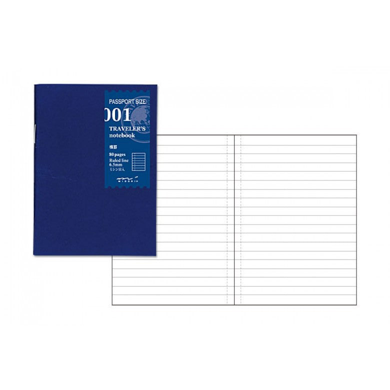 Midori Traveler's Passport Sized Refill - 001 Lined Notebook