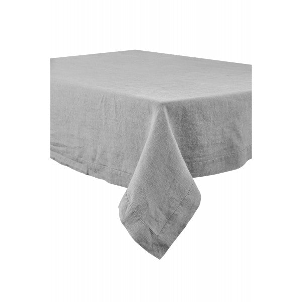 Washed Linen Tablecloth - Concrete Grey