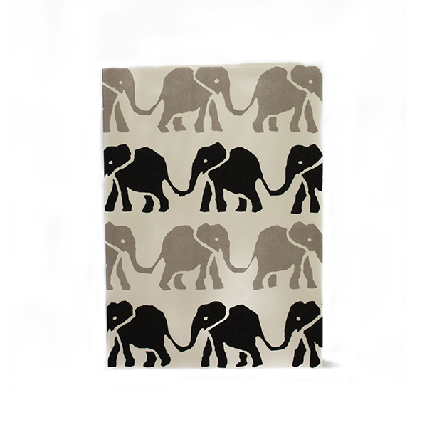 Black and Grey Elephants Greetings Card