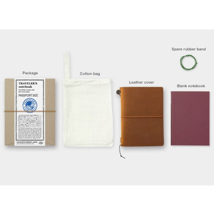 Traveler's Notebook Starter Kit Passport Sized - Camel