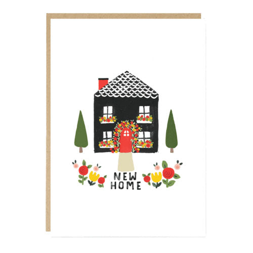 New Home With Roses Card