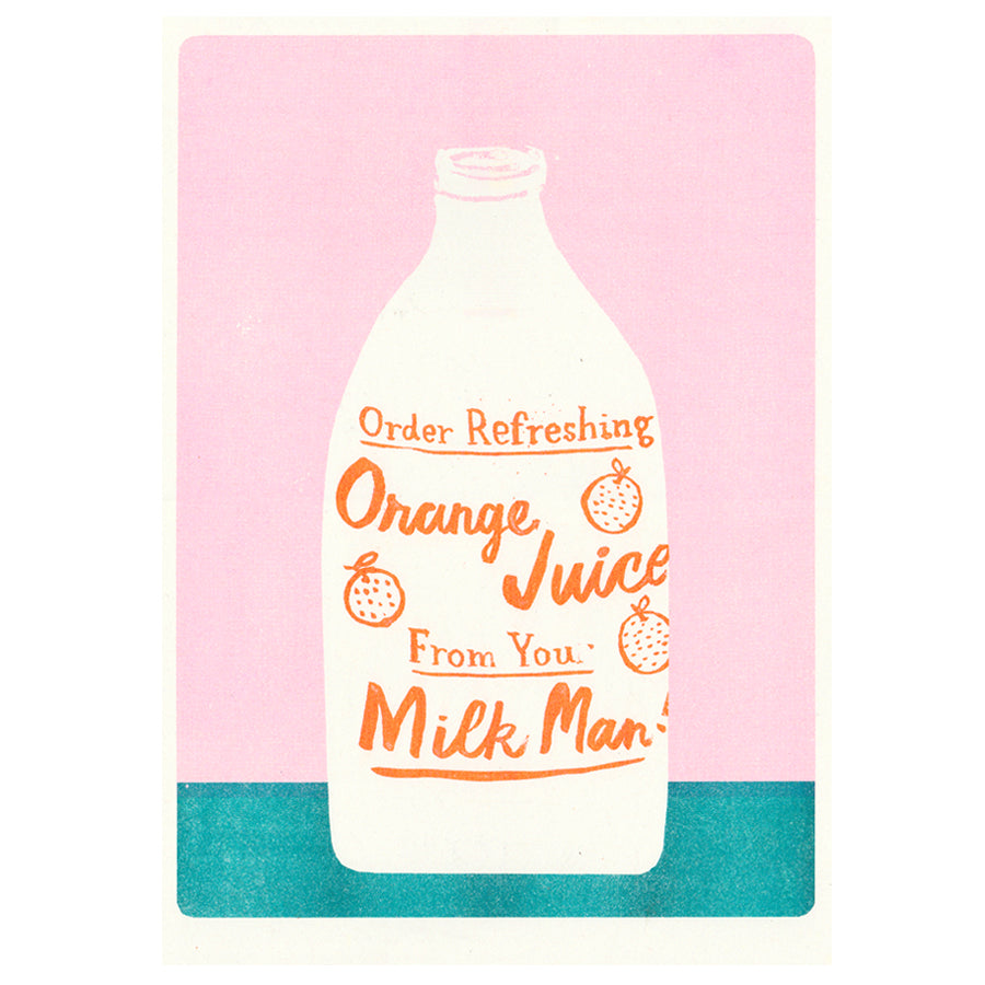 Orange Juice A3 Risograph Print