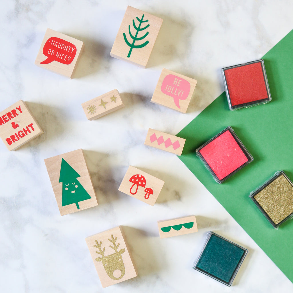 Christmas Rubber Stamp Set
