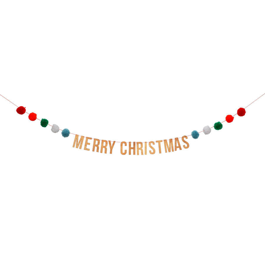Merry Christmas Wooden Banner