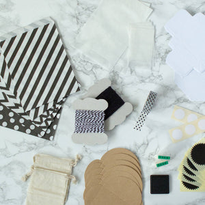 Monochrome Modern Craft Advent Calendar Kit