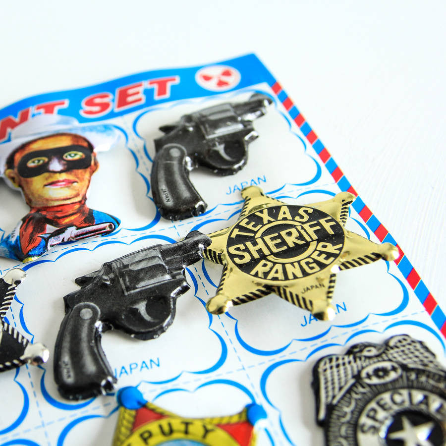 Cool Japanese Tin Badge Set Of 12
