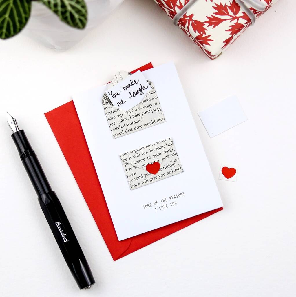 Tiny Mini Envelope Love Note Card