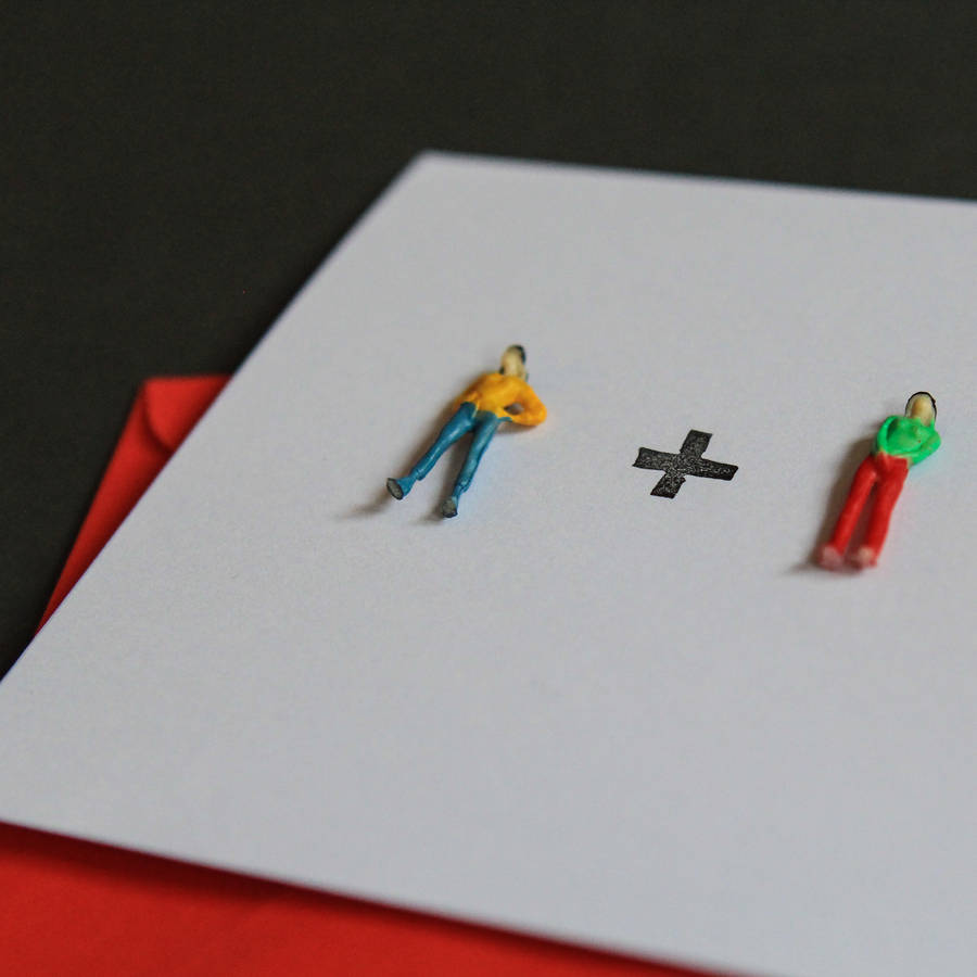 Tiny People Maths Valentines Card