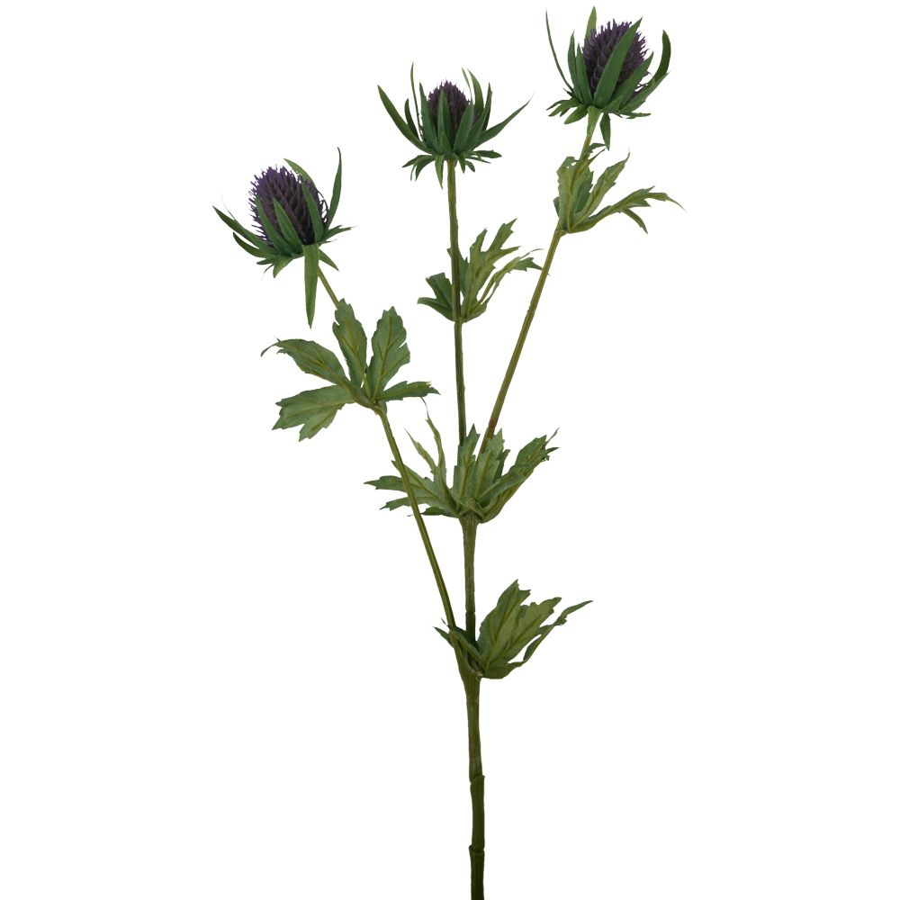 Artificial Blue Thistle Stem