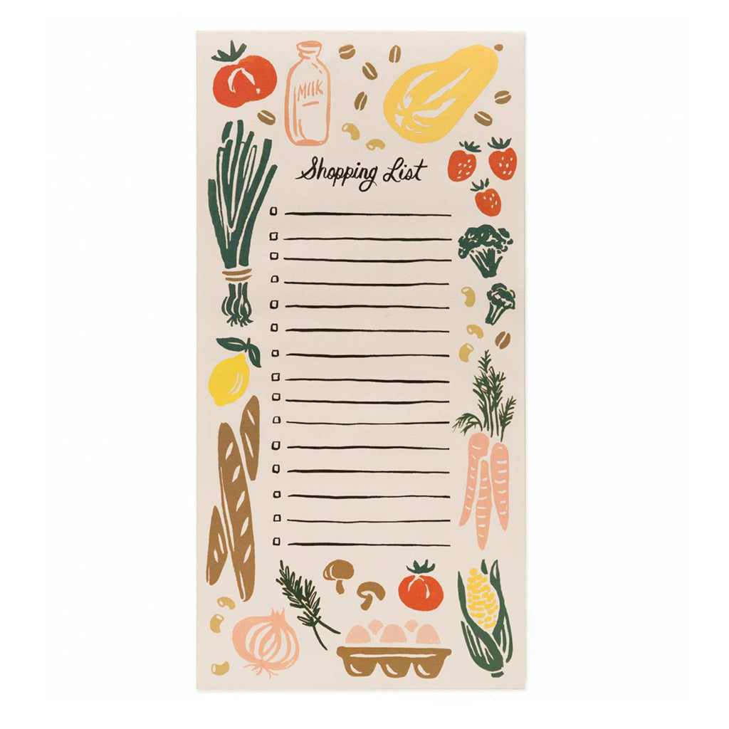 Corner Store Shopping List Pad by Rifle Paper Co.