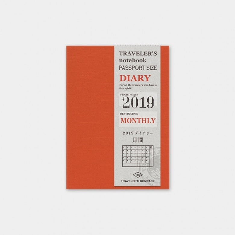 Traveler's Notebook Passport 2019 Monthly Diary