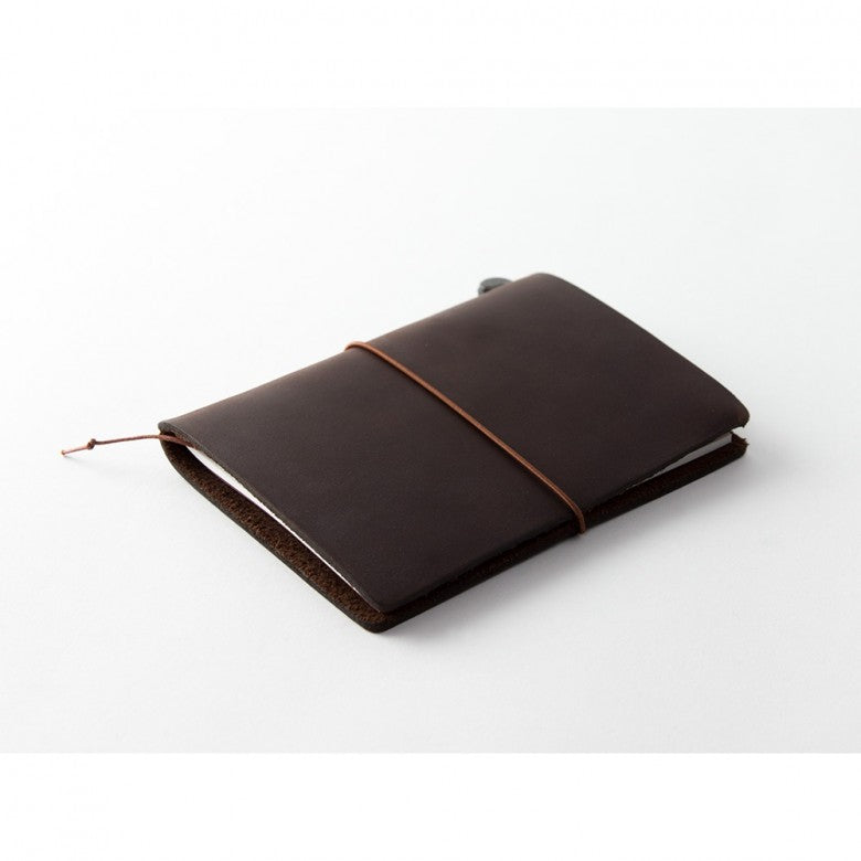 Midori Passport Sized Traveler's Notebook - Brown Leather Starter Kit