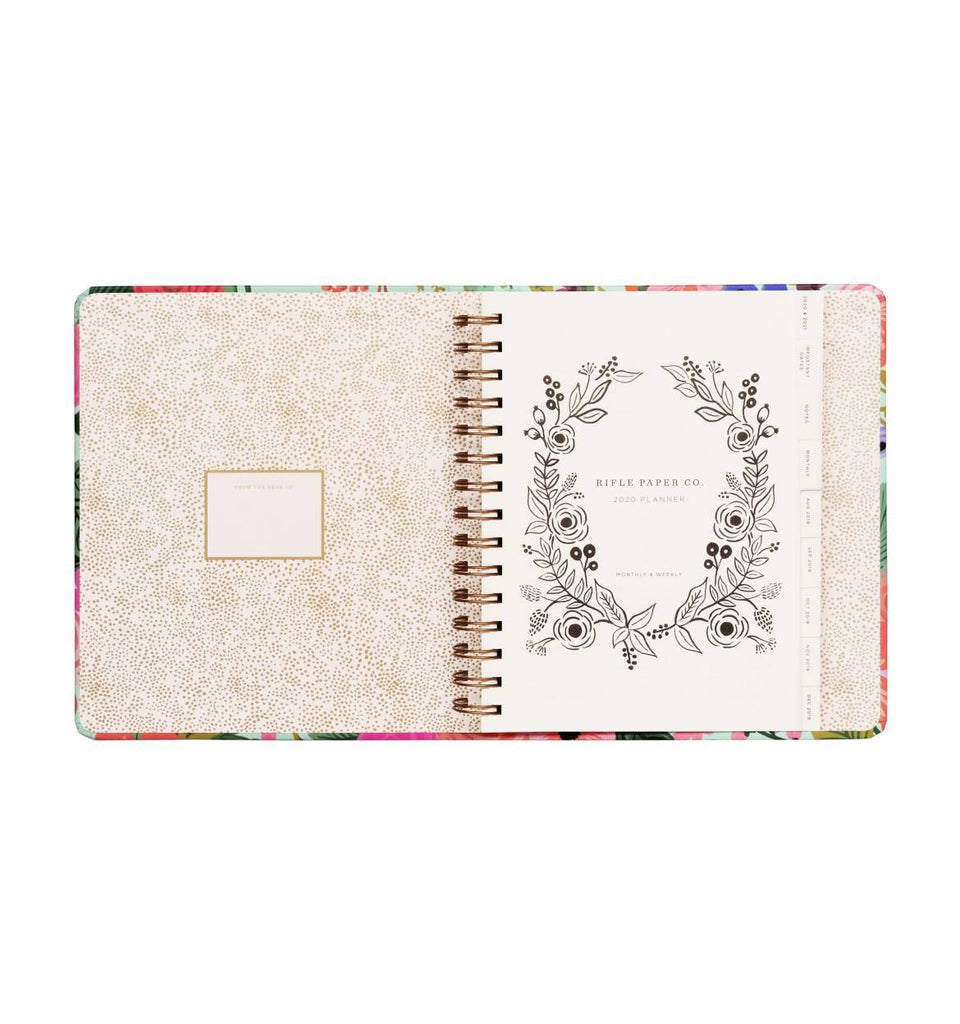 2020 Garden Party Covered Planner - 17 Month
