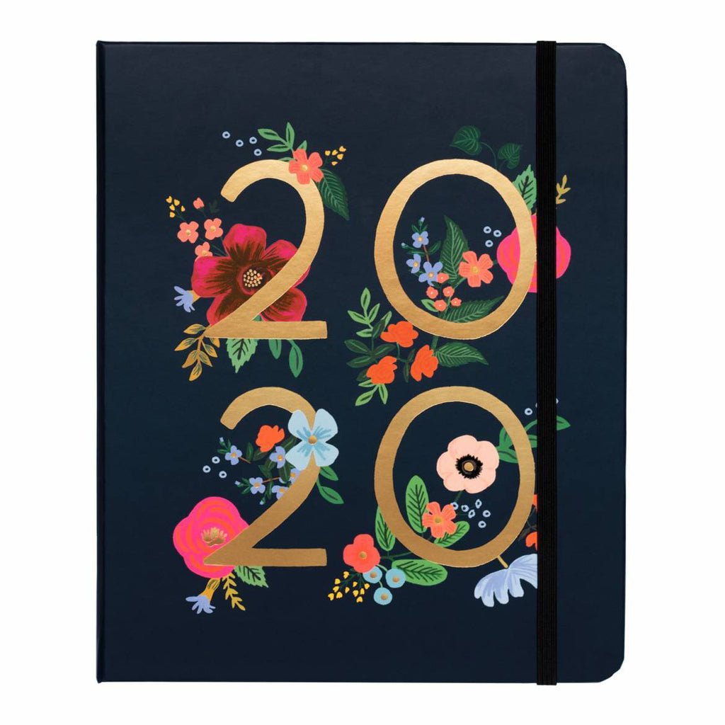 2020 Wild Rose Covered Planner - 17 Month