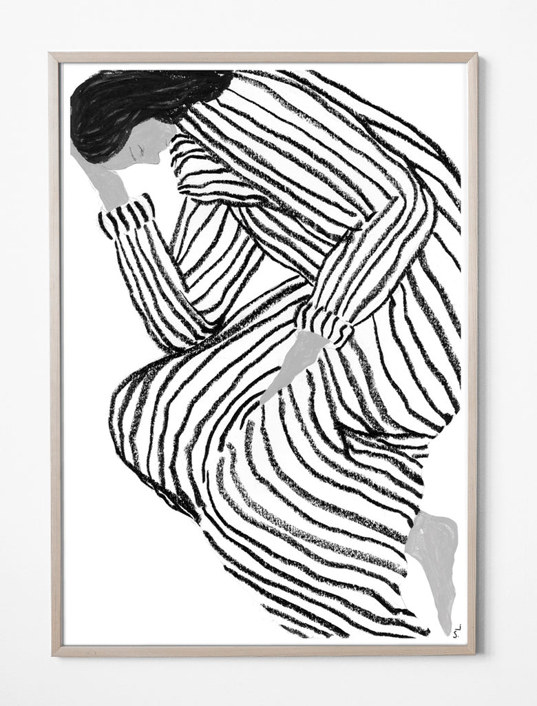 'Bored' Print by Sofia Lind 50 x 70 cm