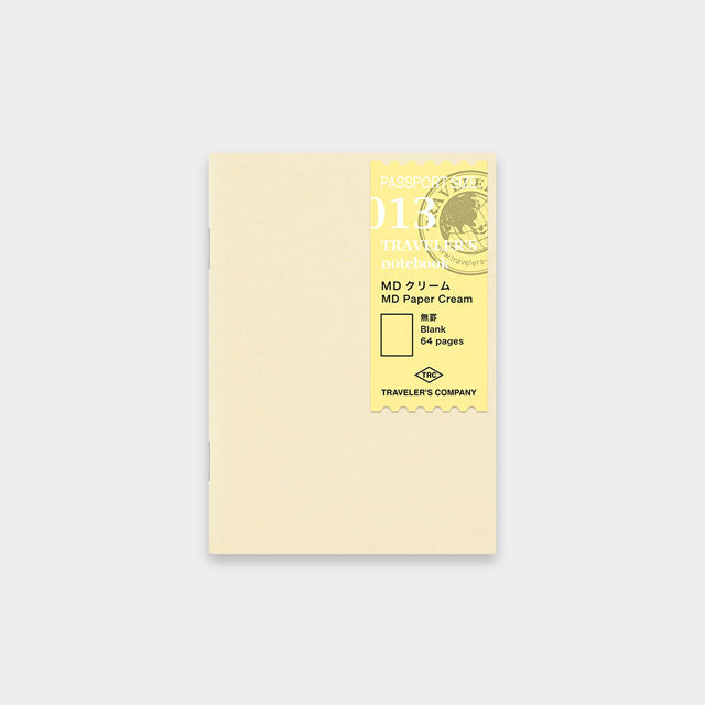 Midori Traveler's Passport Sized Refill - 013 Cream Notebook