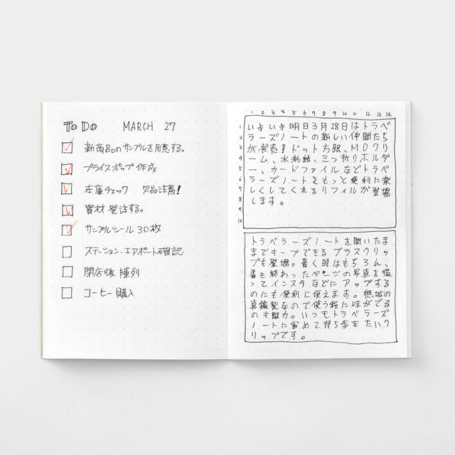 Midori Traveler's Passport Sized Refill - 014 Dot Grid Notebook