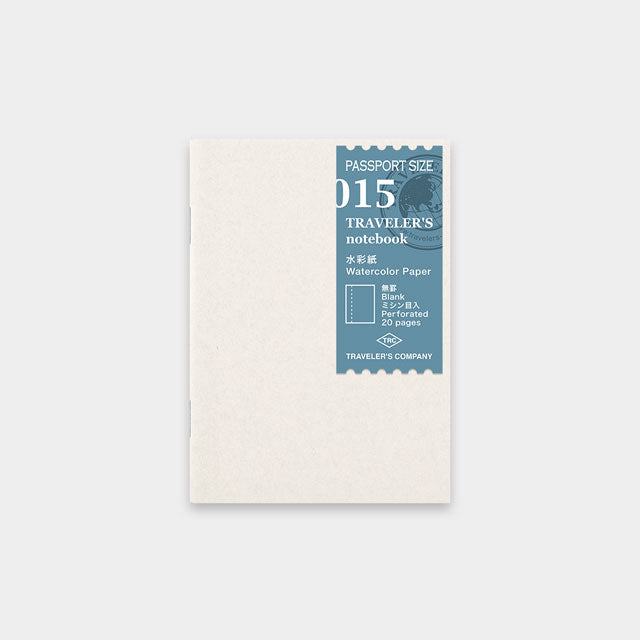 Midori Traveler's Passport Sized Refill - 015 Watercolour Paper Notebook