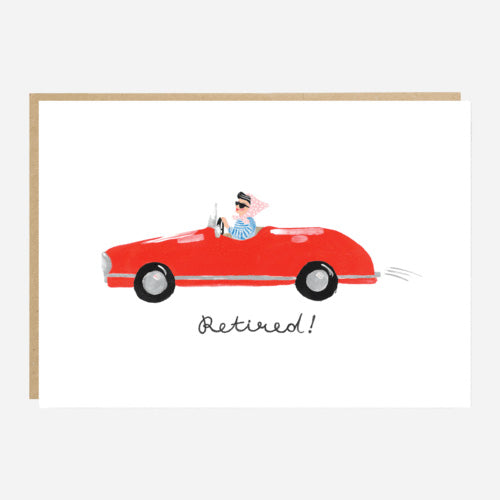 Red Car Retirement Card