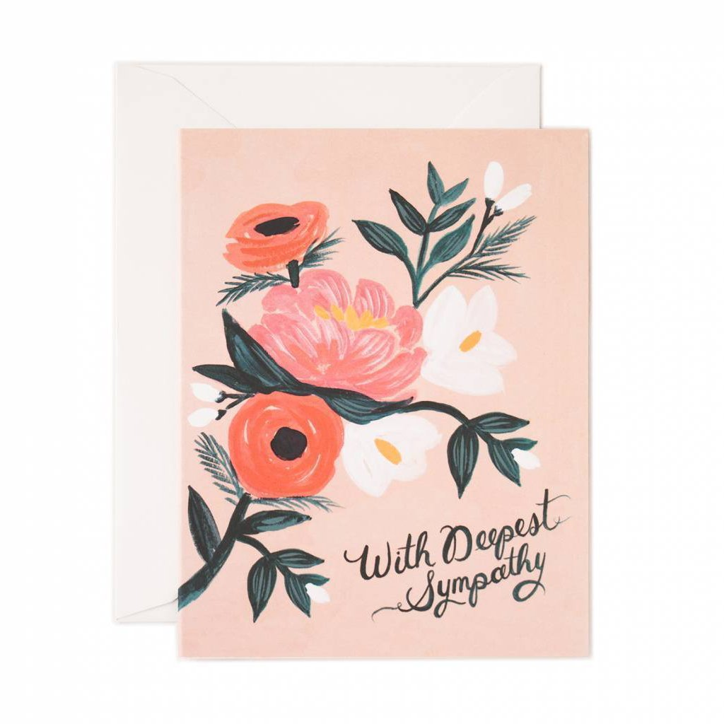 With Deepest Sympathy - Greetings Card by Rifle Paper Co