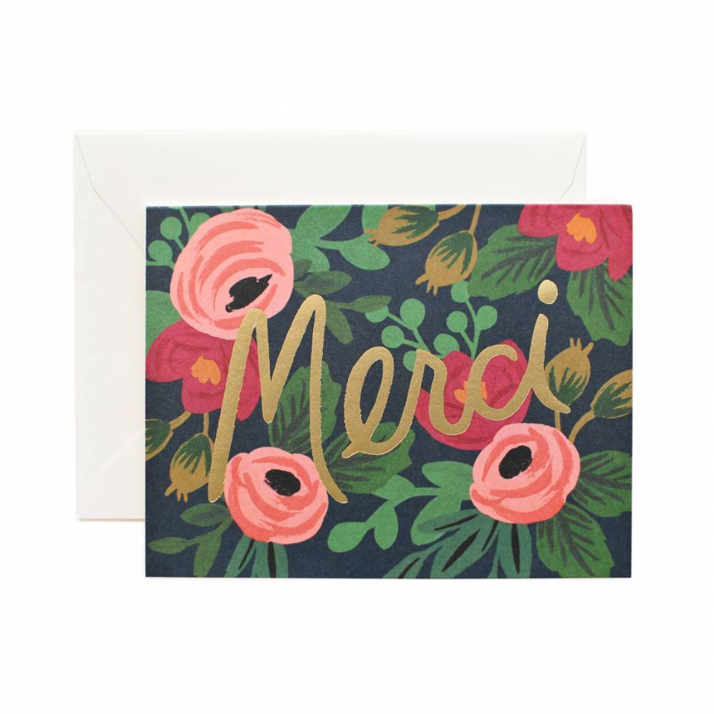 Rosa Merci - Thank You Card by Rifle Paper Co