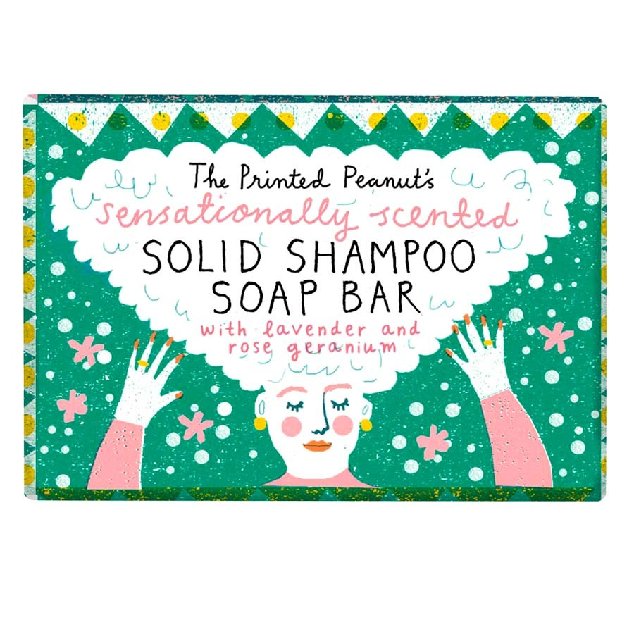 Natural Handmade Rose Geranium Shampoo Soap Bar